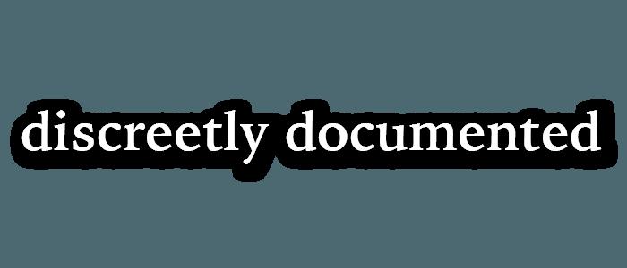 discretely documented-01