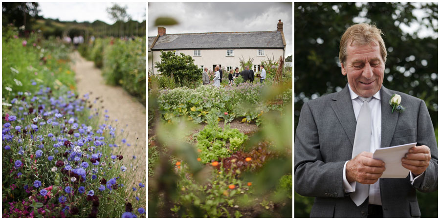 River Cottage Wedding Photography outdoor speeches