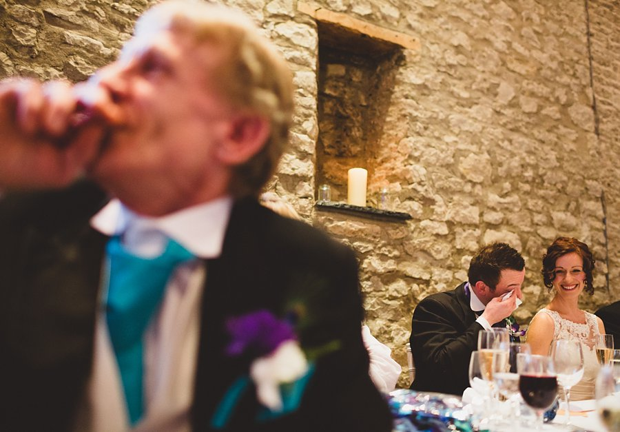 bride and groom at priston mill