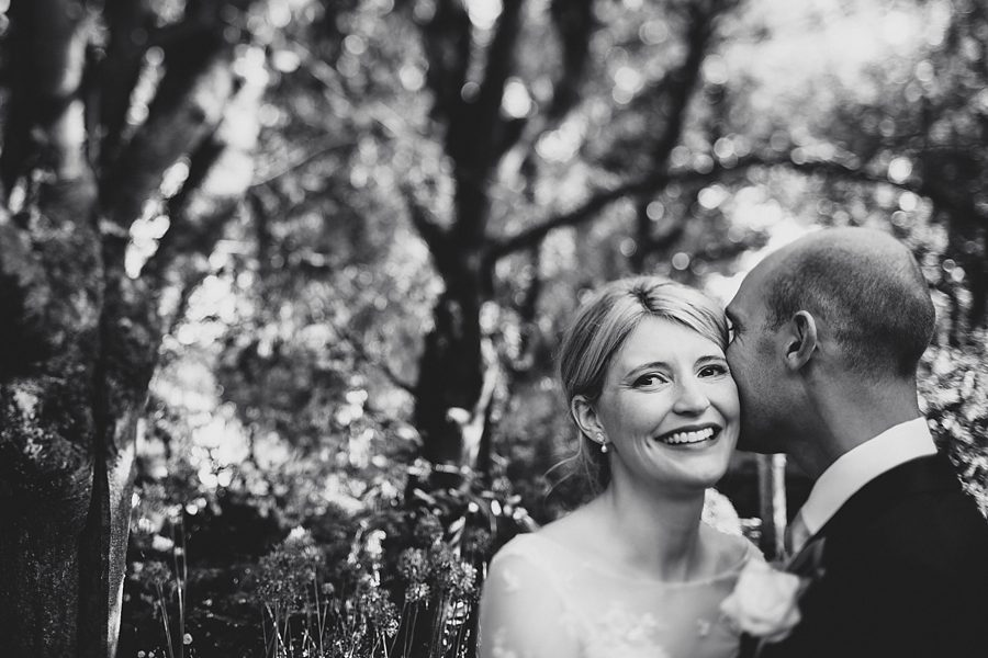 bride and groom at barnsley house by sam gibson