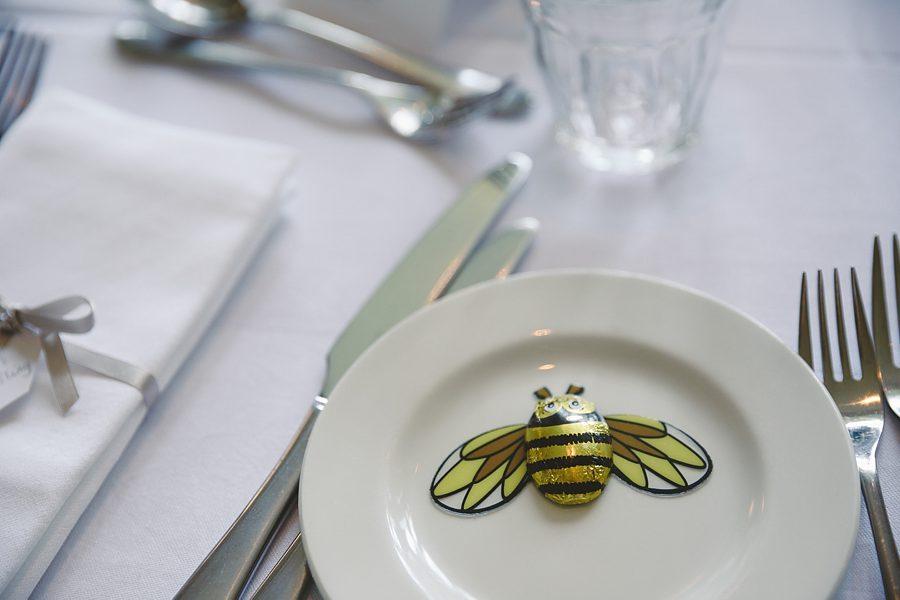 barnsley house wedding meal by sam gibson