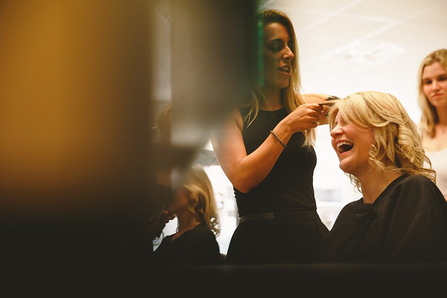 bridesmaids getting ready in cirencester by sam gibson