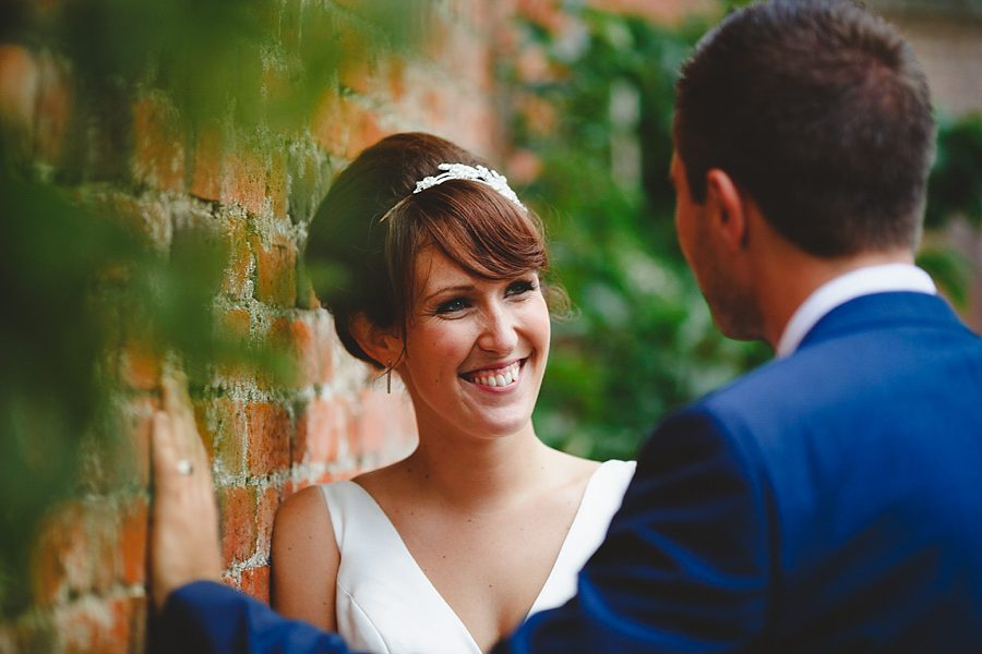 portrait of a bride at charlton house hotel wedding