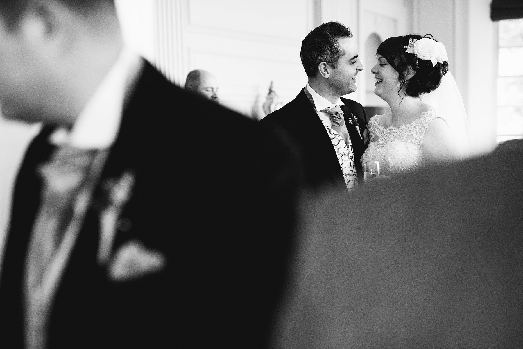bride and groom at the kingston estate