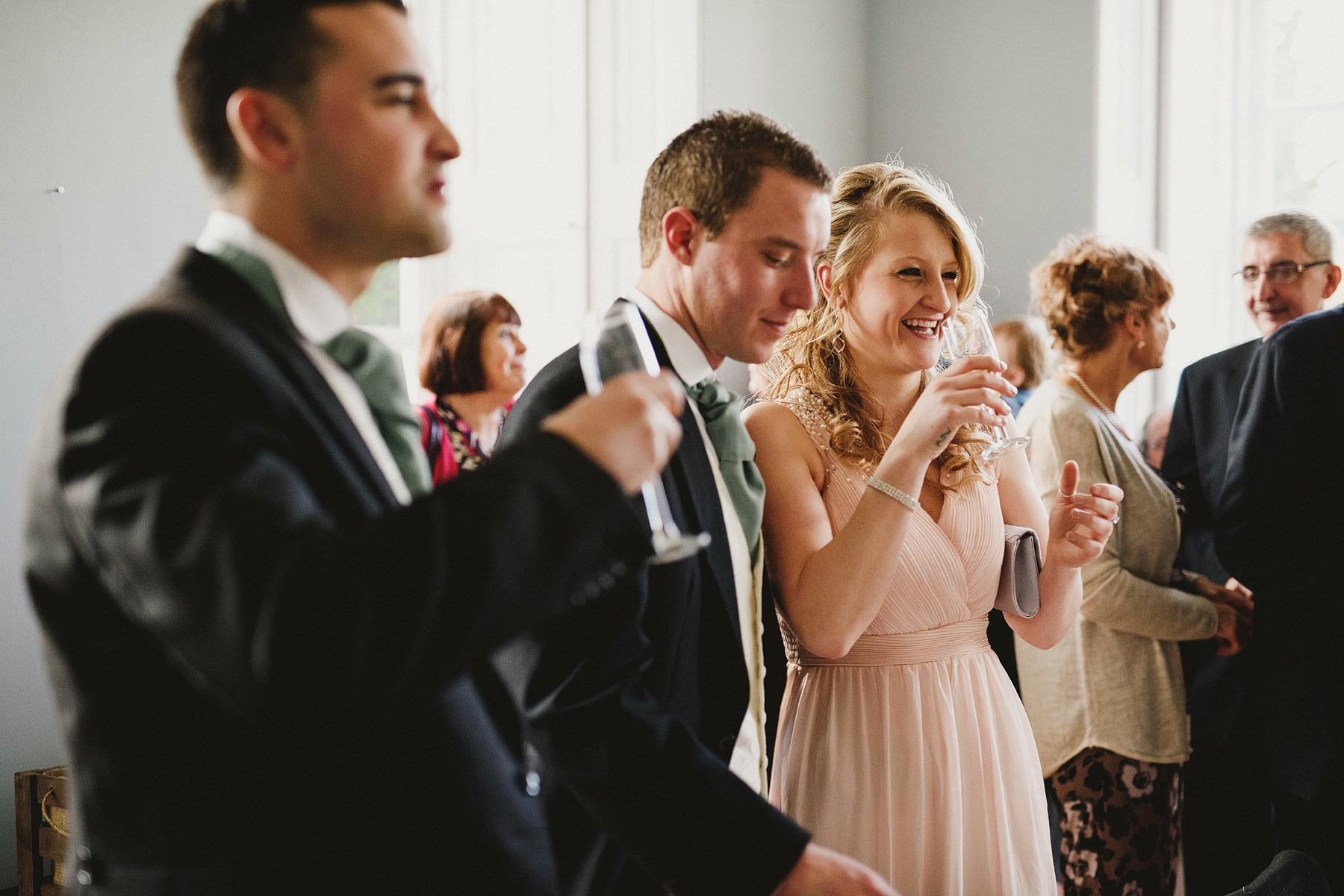 wedding guests at the kingston estate