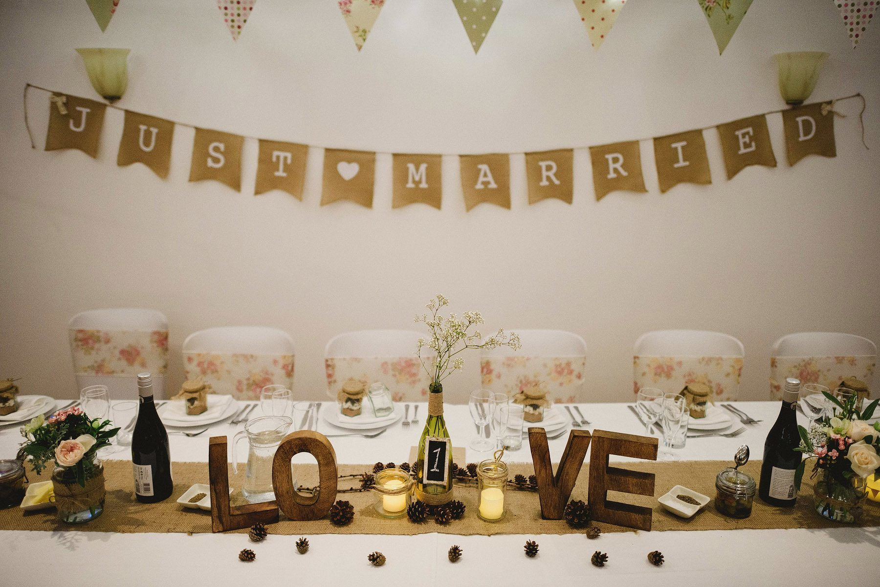 wedding breakfast at kingston estate