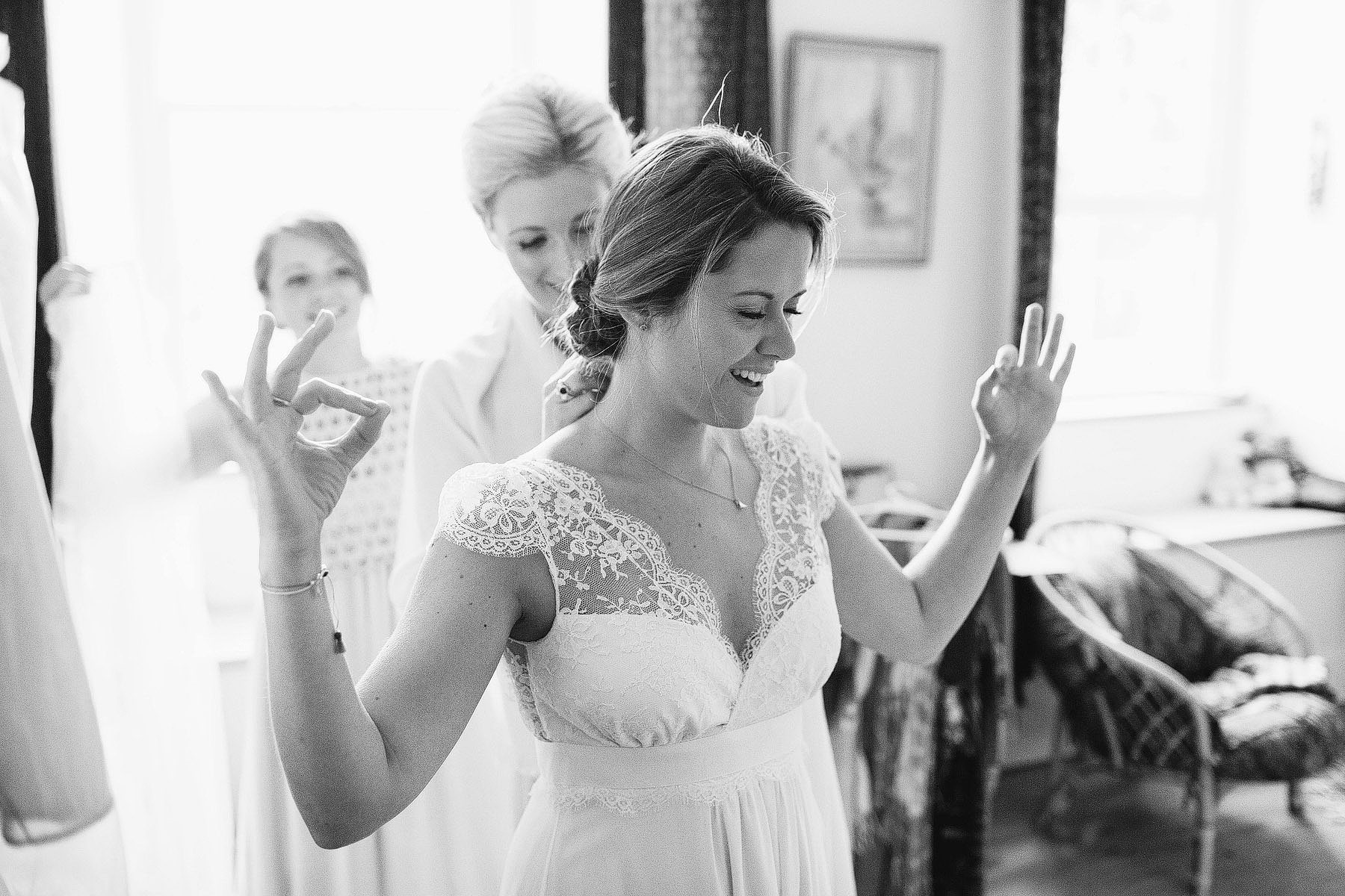 Black and White Documentary Wedding Photography