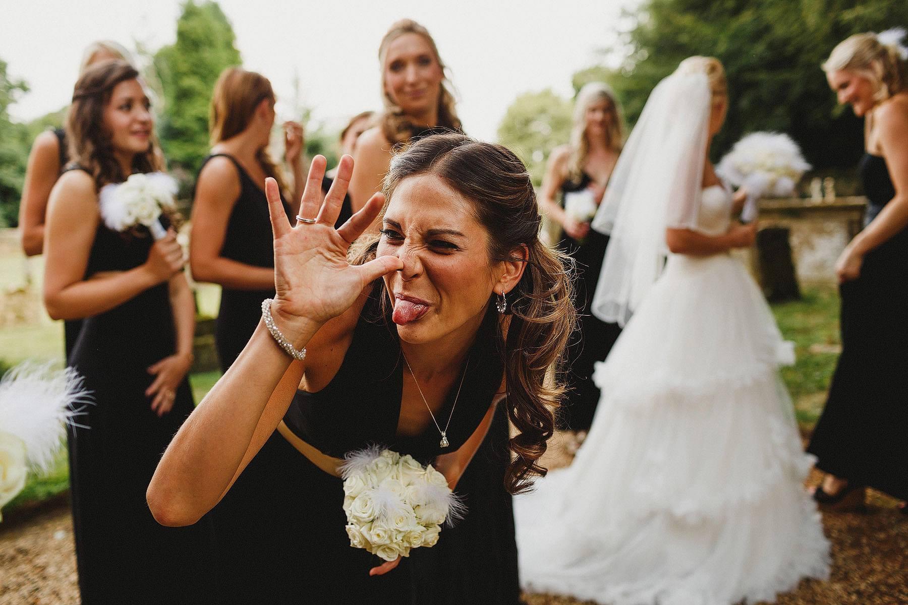 cheeky bridesmaid