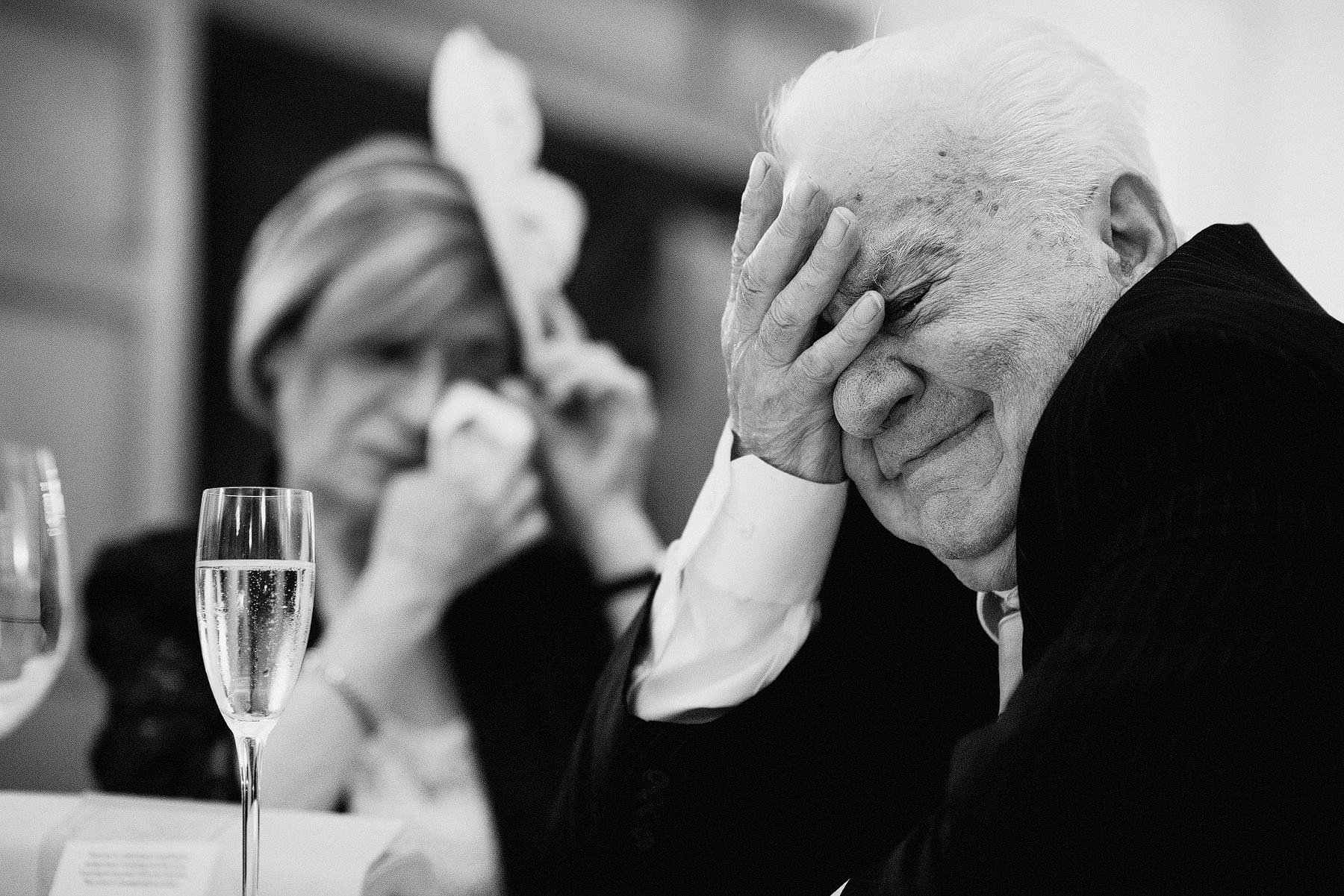 father crying during wedding speeches
