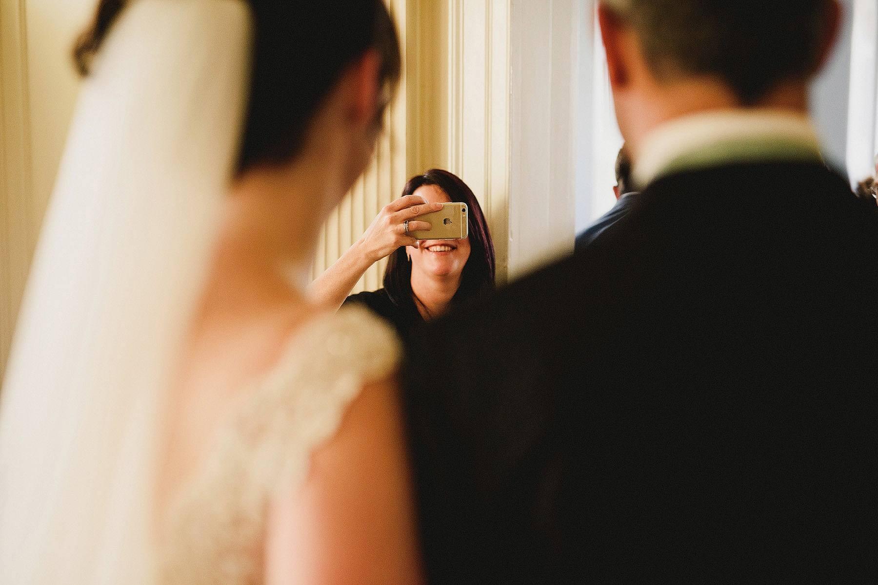 iphone wedding portrait
