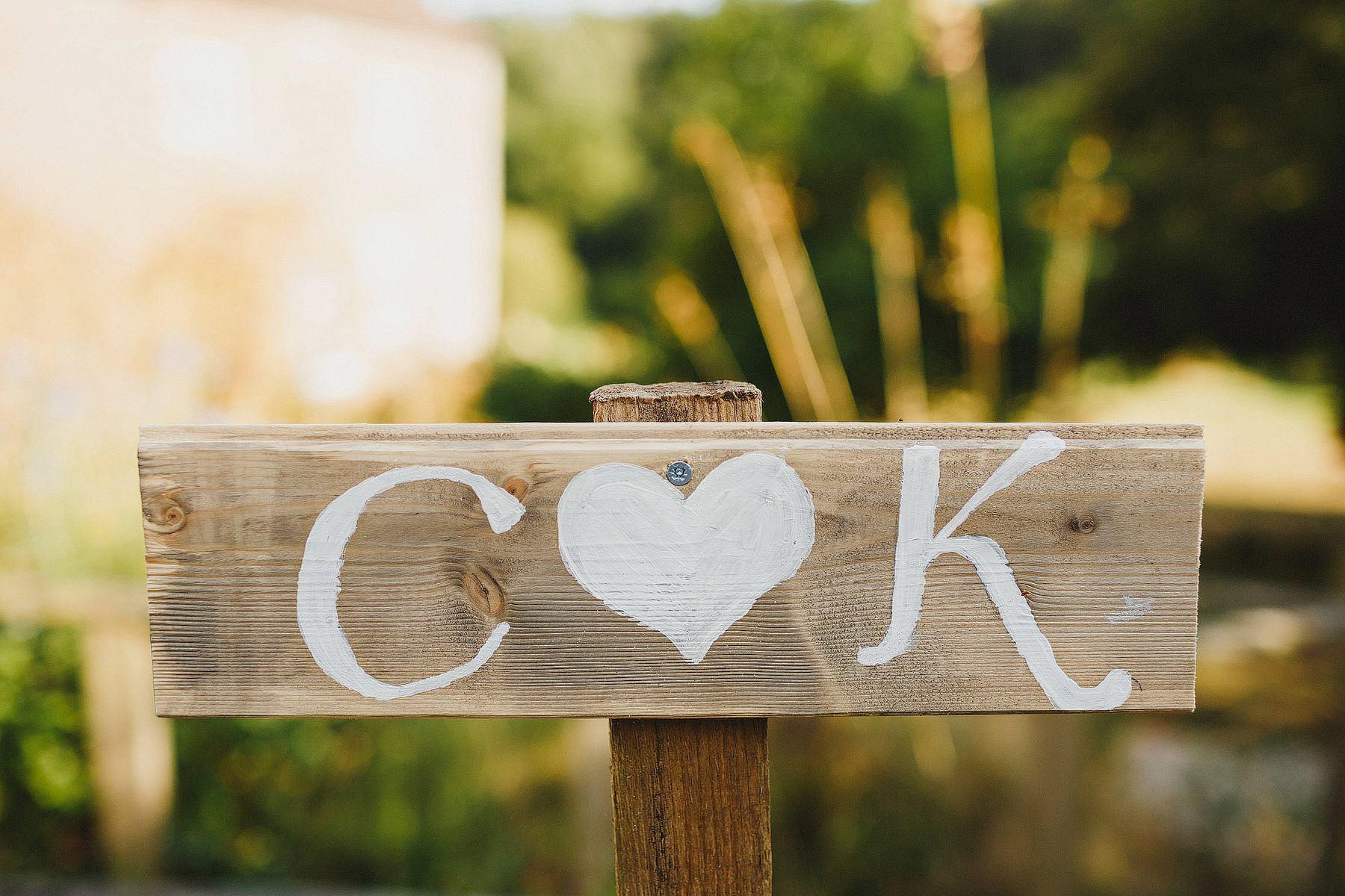 sign at clavelshay barn wedding