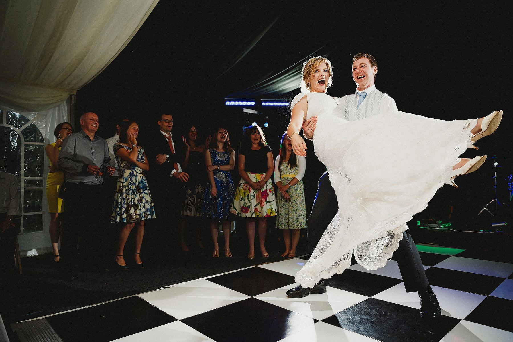 first dance laughter