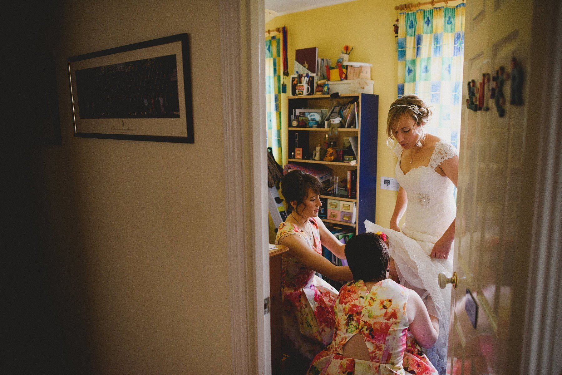 old down manor bride getting ready