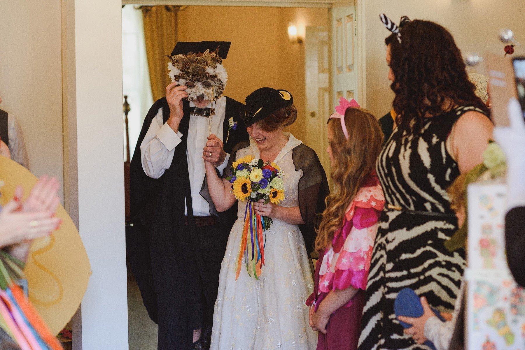 fancy dress wedding in london