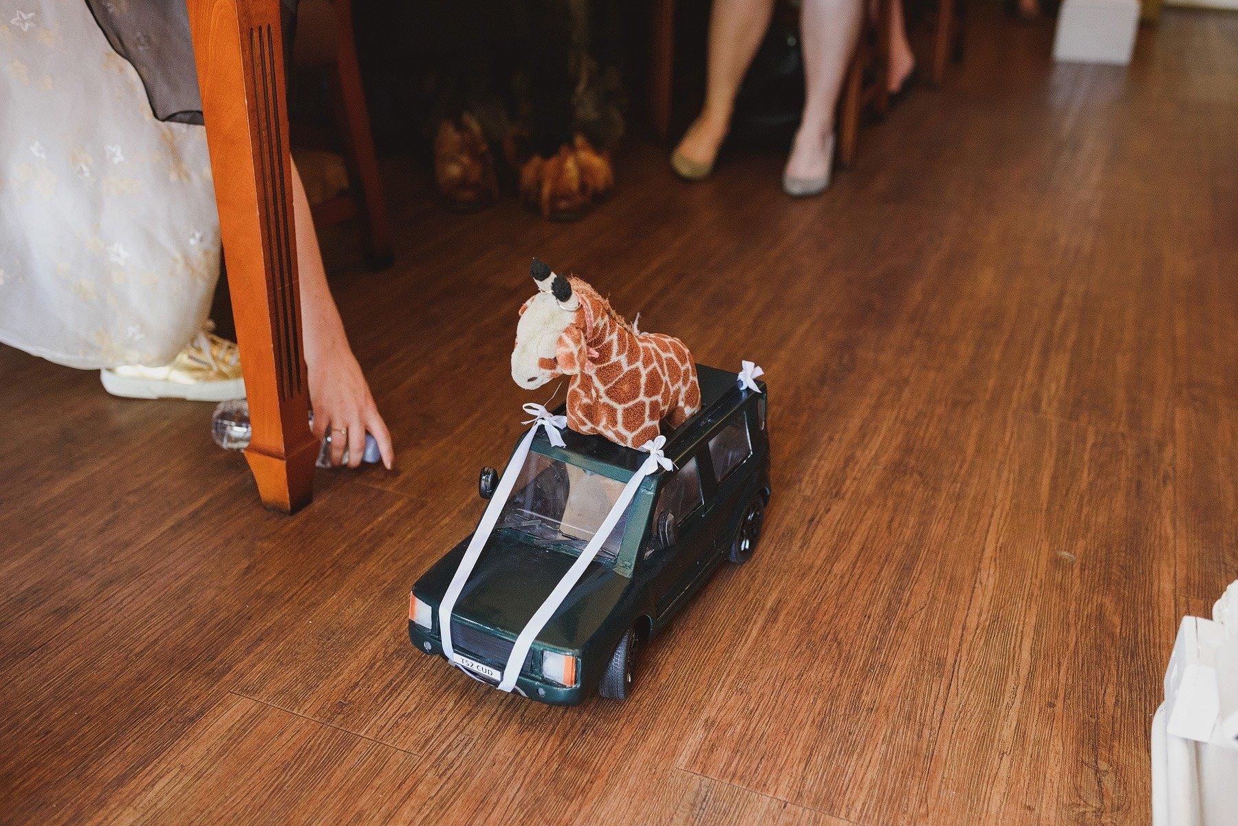 giraffe ring bearer