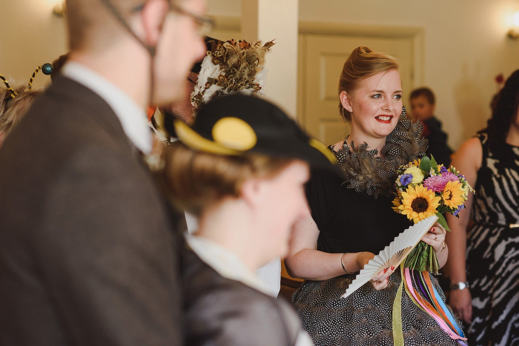 registry office wedding in fancy dress