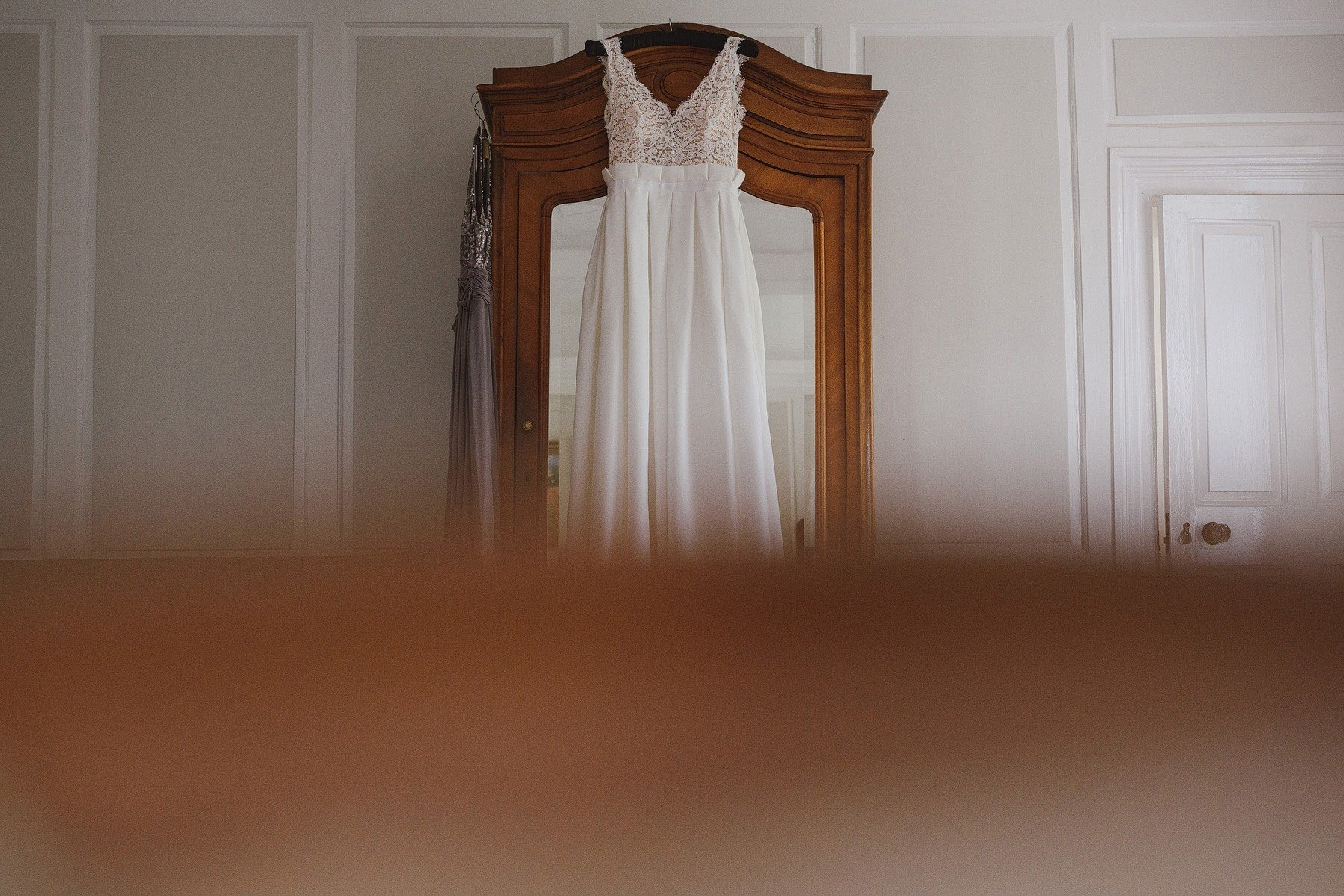 wedding dress at the rectory