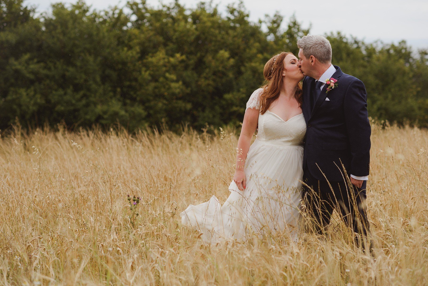 bride and groom portrait at huntstile organic farm
