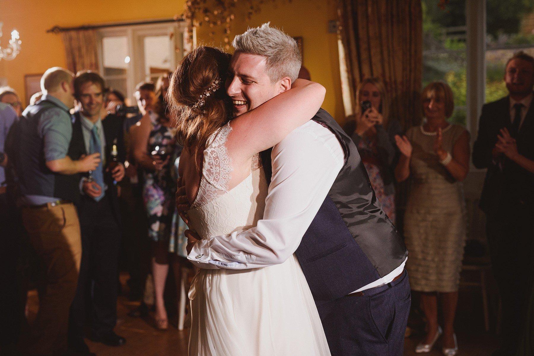 hug during first dance at huntstile