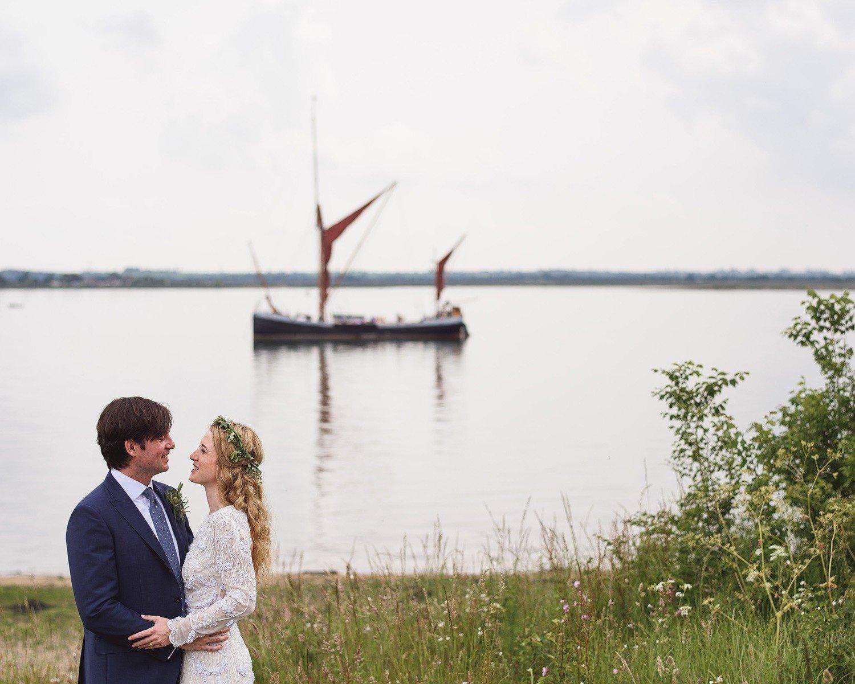 fun wedding on osea island