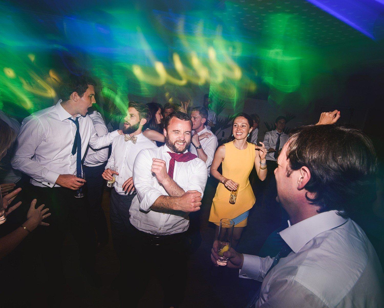 confetti canon at a wedding