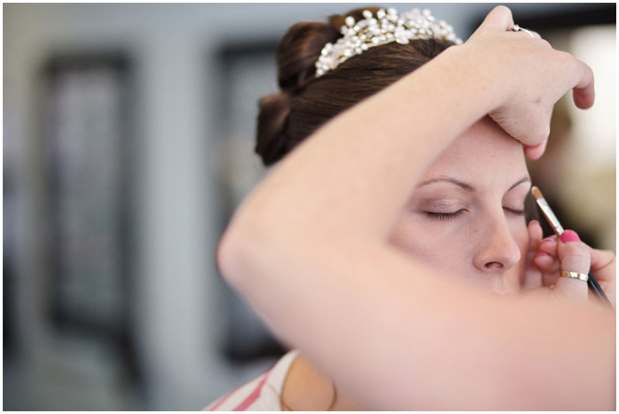 River Cottage Wedding Photography bridal make up
