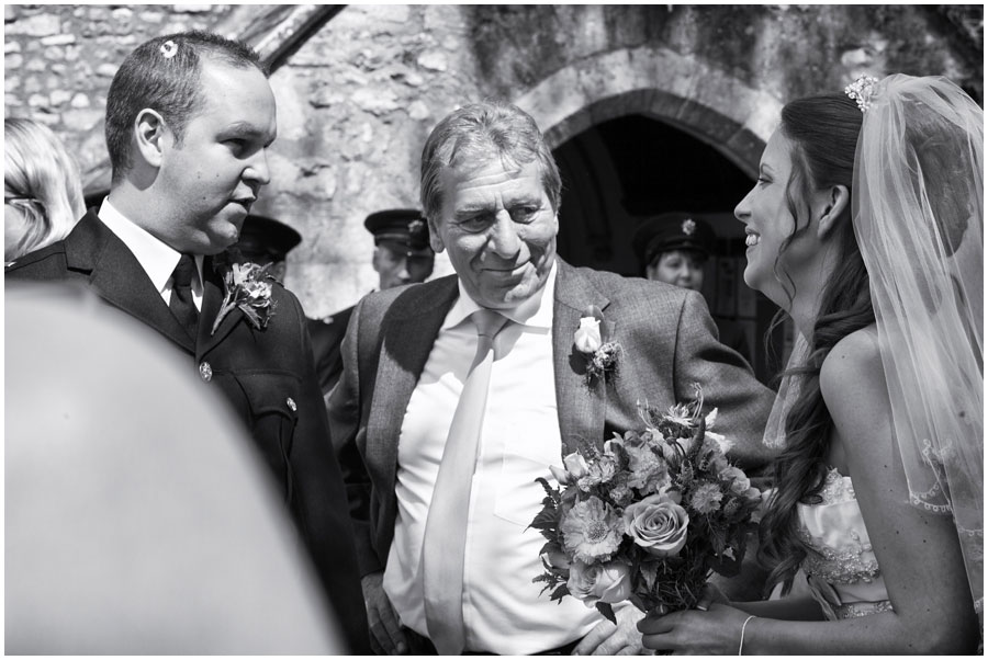 River Cottage Wedding Photography bride and her father