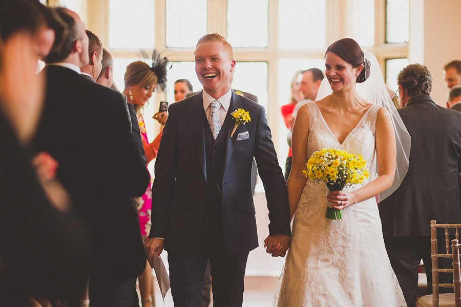 wedding ceremony at coombe lodge