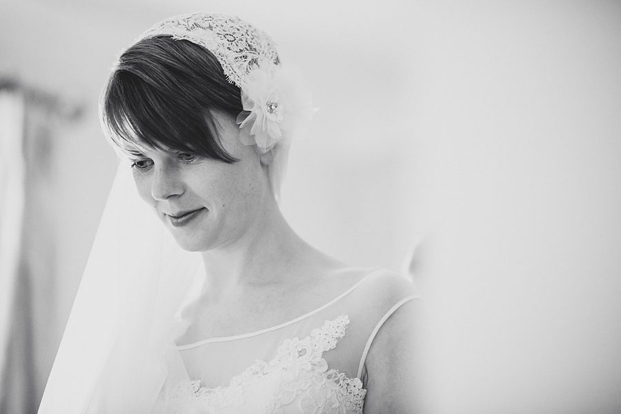 bride getting ready for her wedding at priston mill in bath