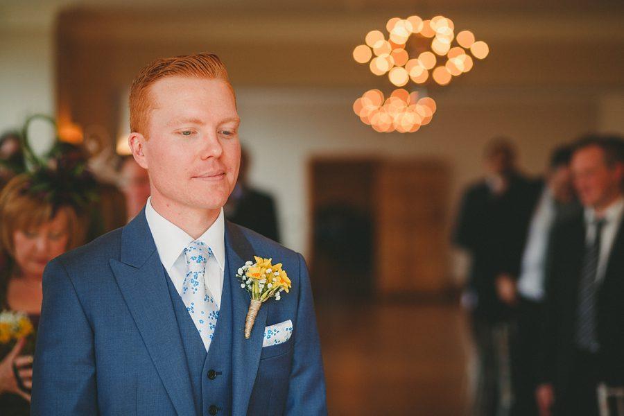 groom waiting before a wedding