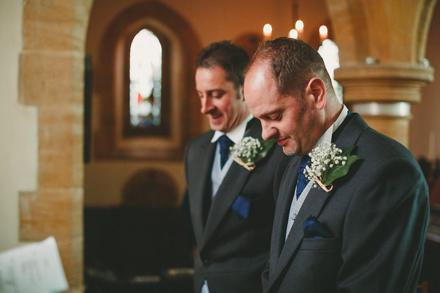 groom and best man waiting before a wedding