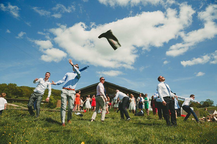 aerial stunt display at a wedding