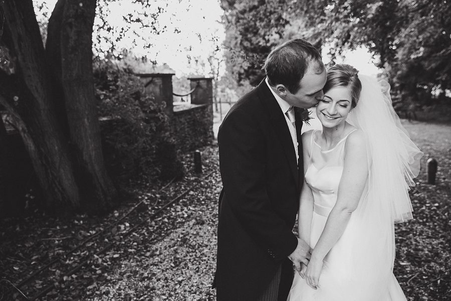 bride and groom at coombe lodge