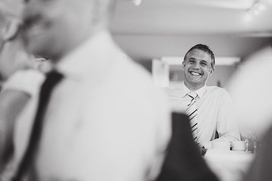 best man cries during speech at a wedding