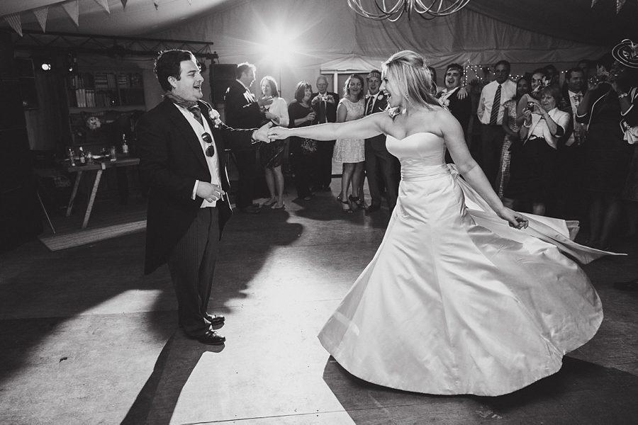 wedding first dance at larmer tree gardens