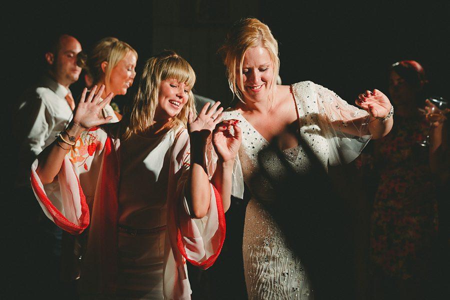 guests dancing at essex wedding