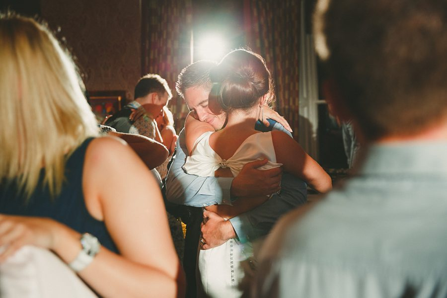 guests at great tythe barn wedding