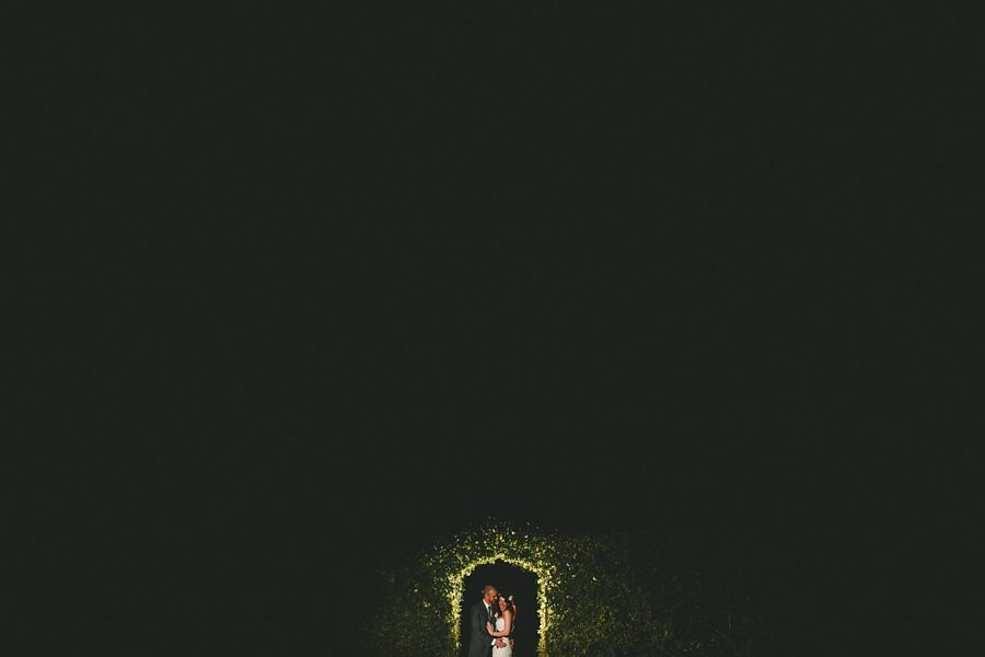 bride and groom portrait at night at paintworks bristol