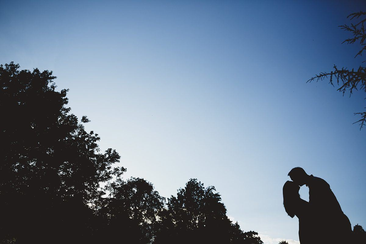 silhouette engagement shot