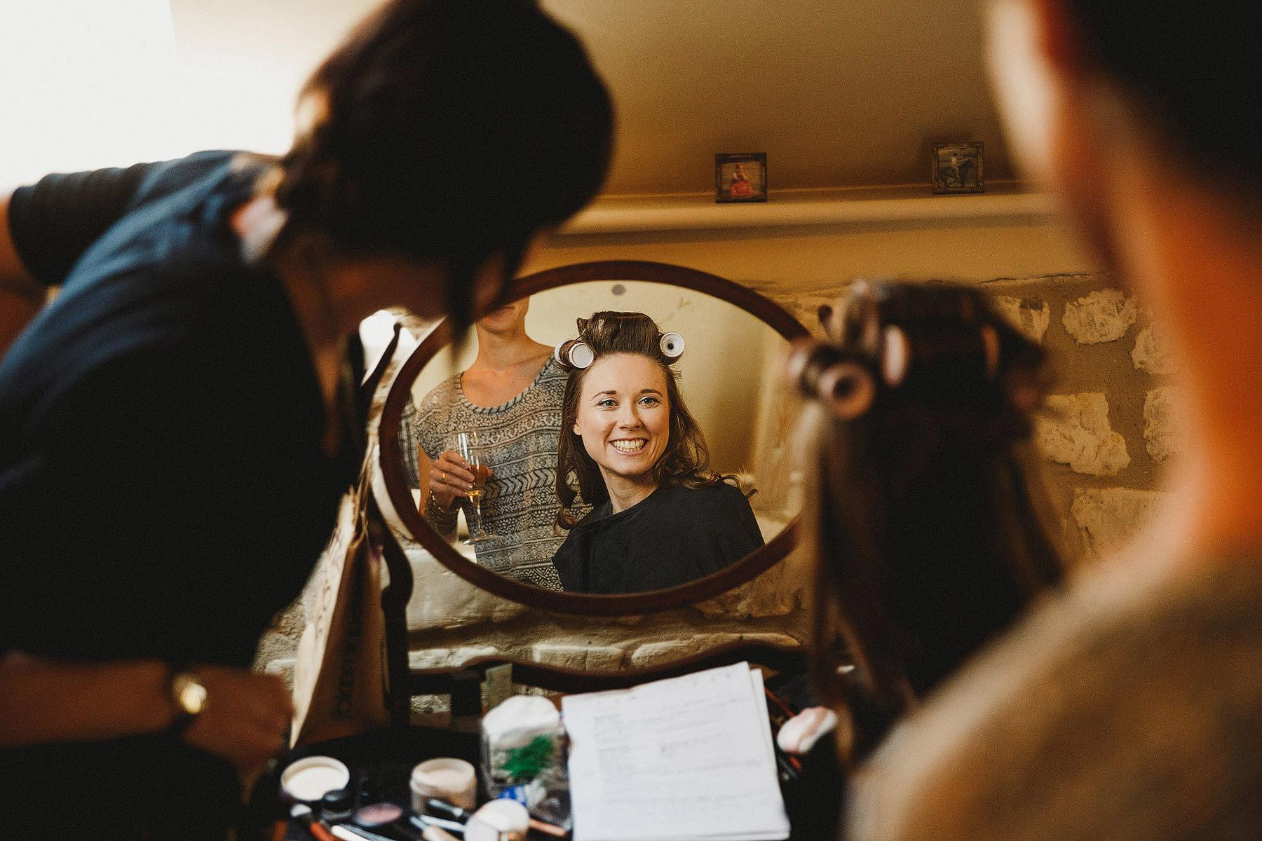 photographs of bride getting ready