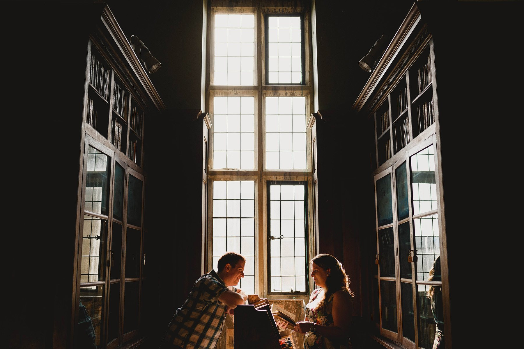 library engagement shoot in bristol