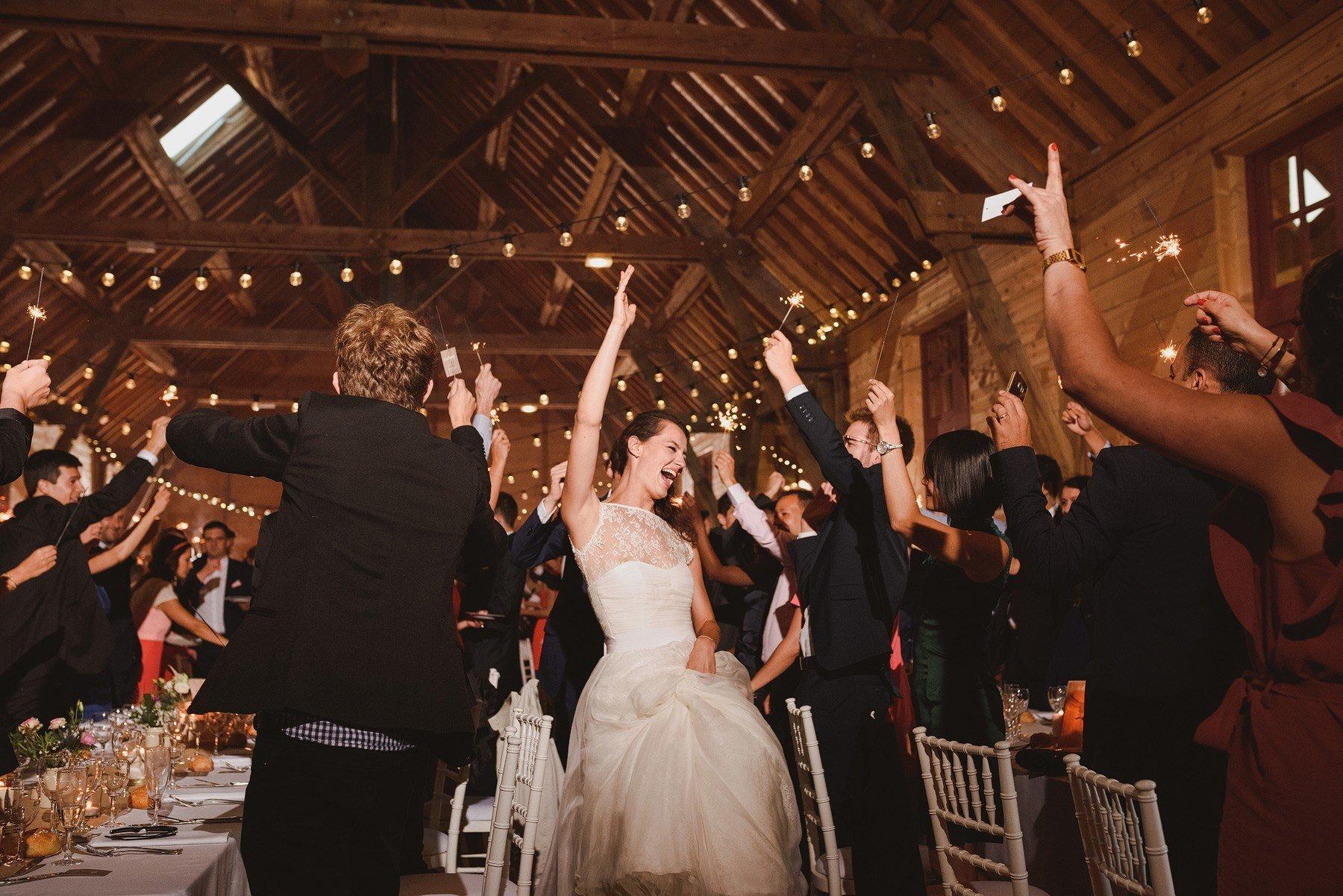 french wedding sparkler entrance