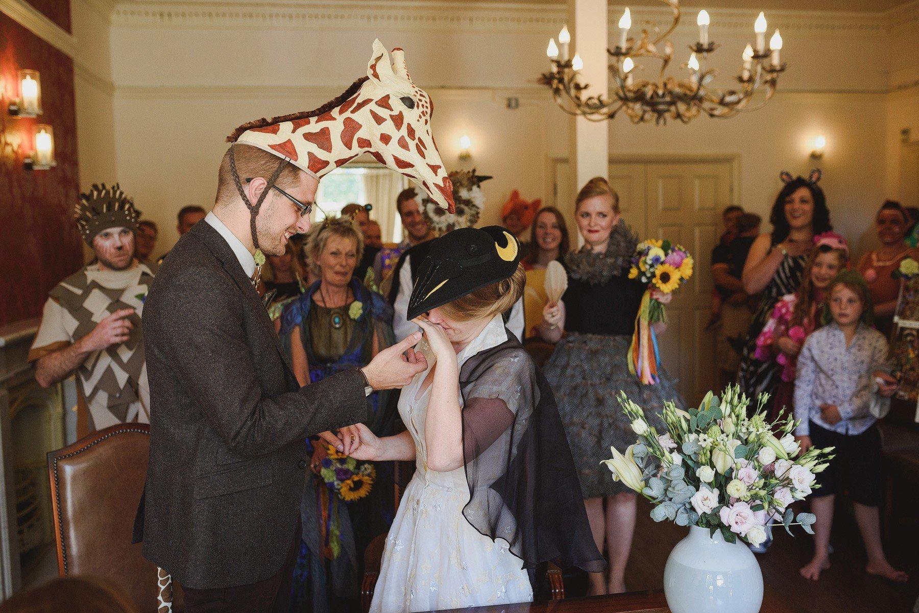 fancy dress wedding at southwark registry office