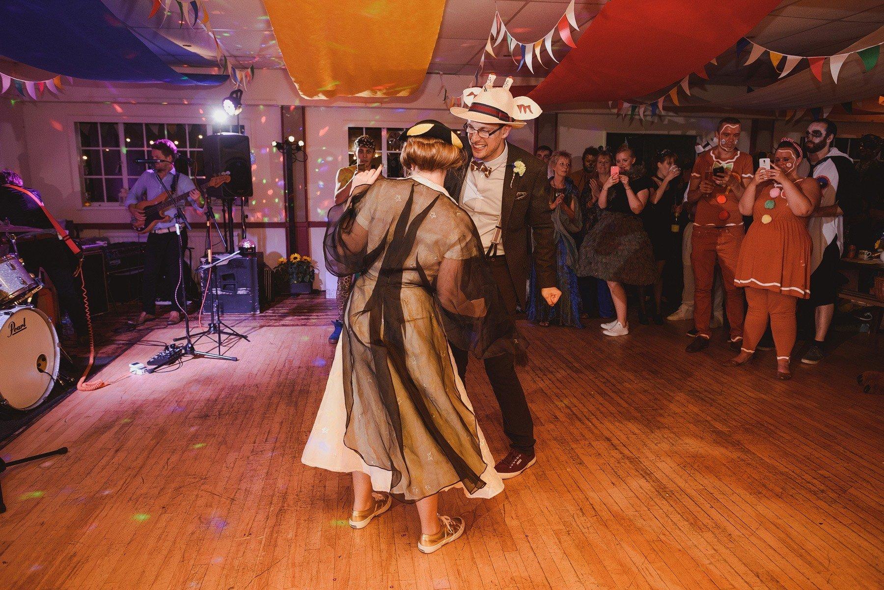 fancy dress wedding first dance