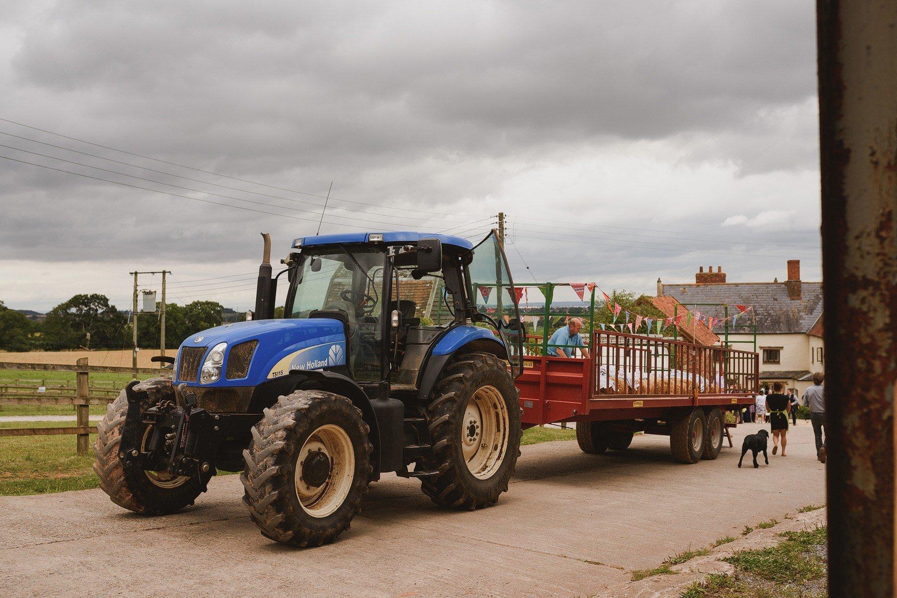 tractor at huntstile organic farm