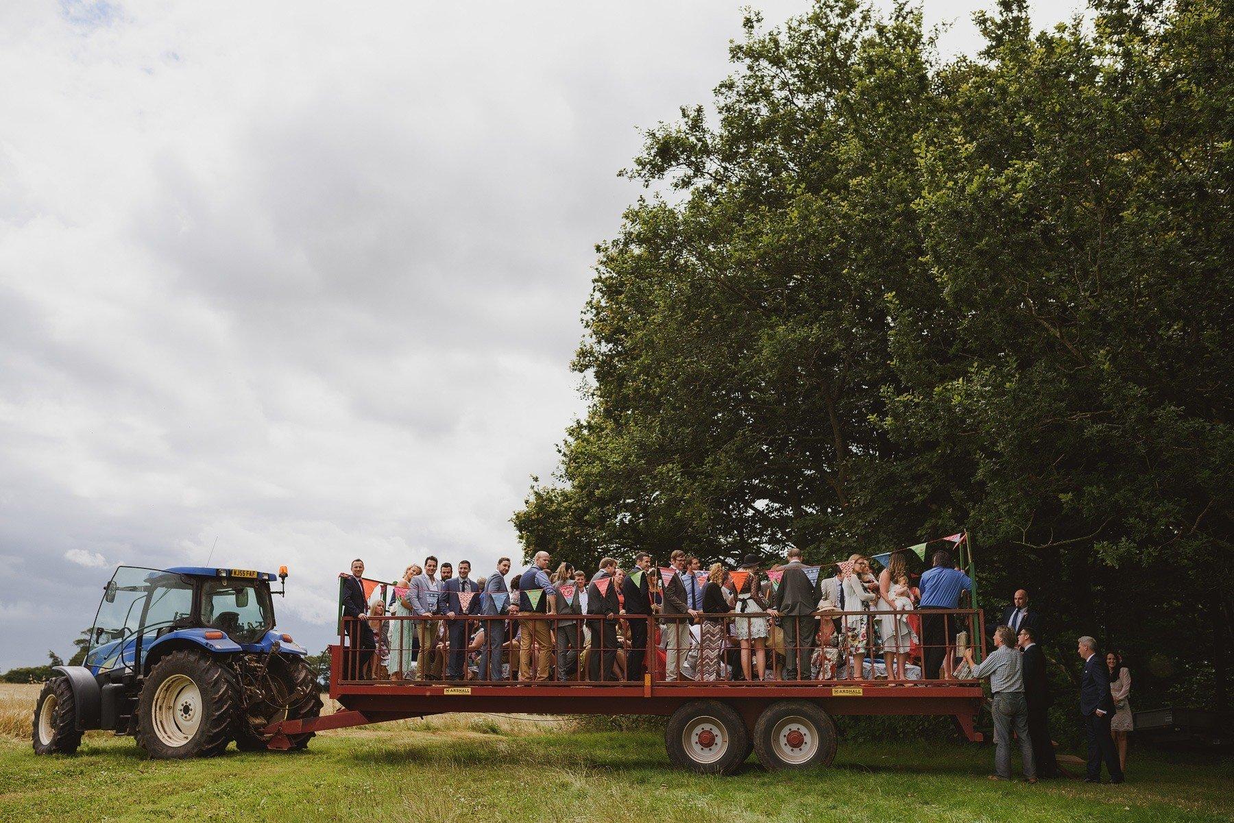 wedding tractor at huntstile farm