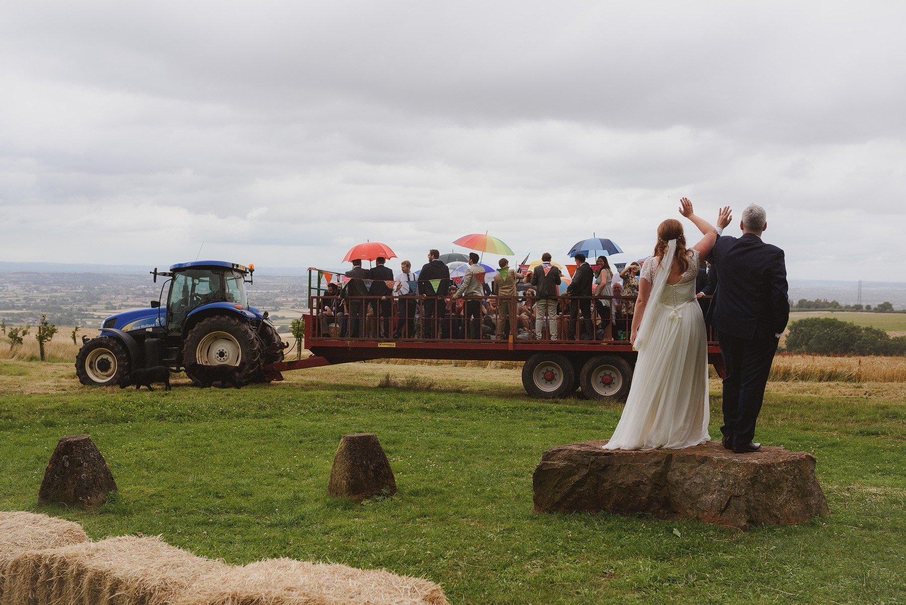 tractor ride back to huntstile farm