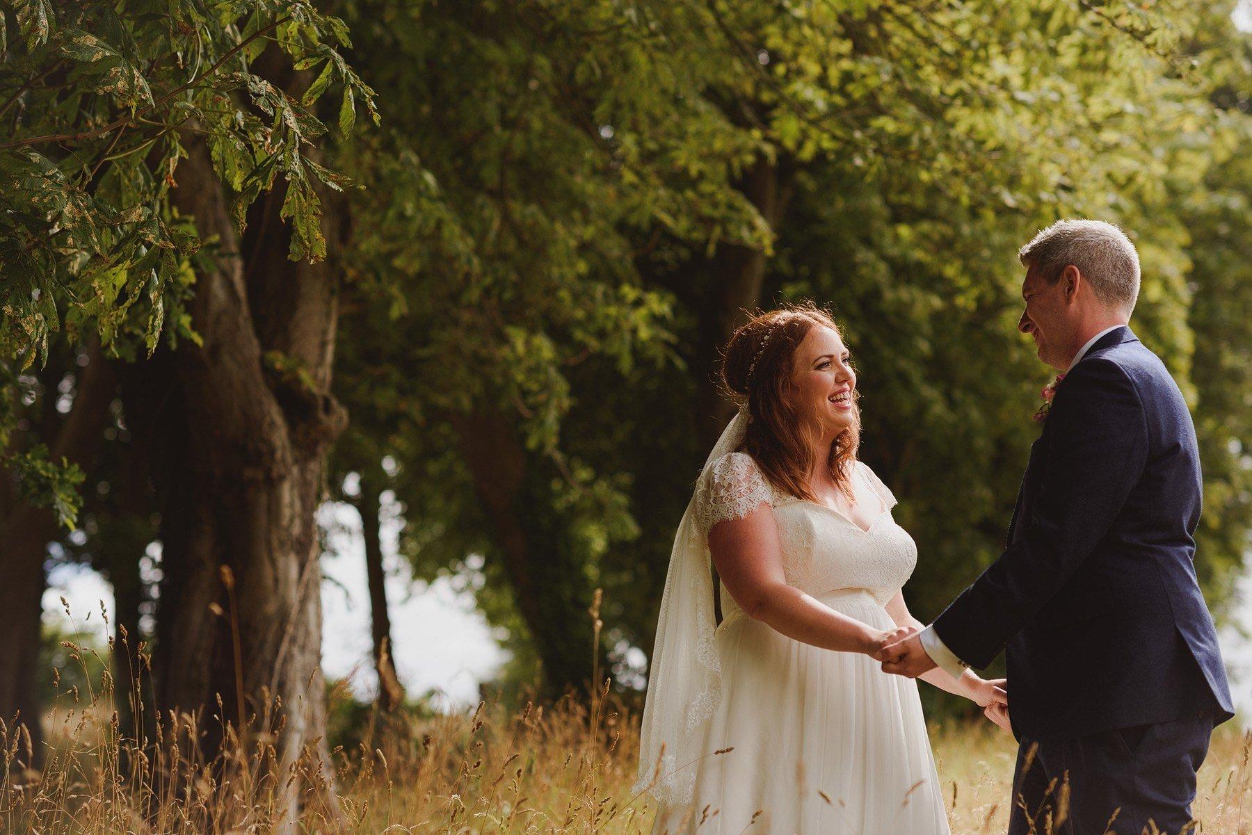 bride and groom at huntstile farm