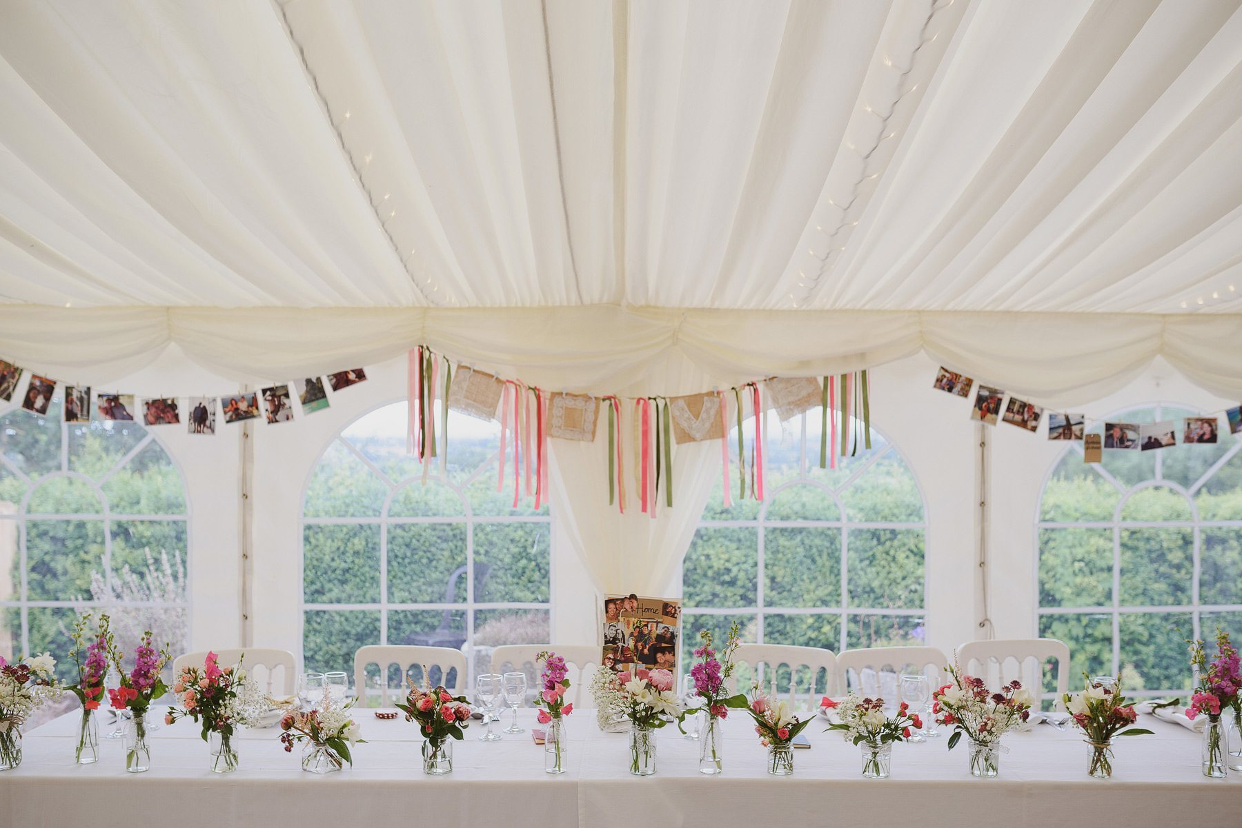 wedding marquee in somerset