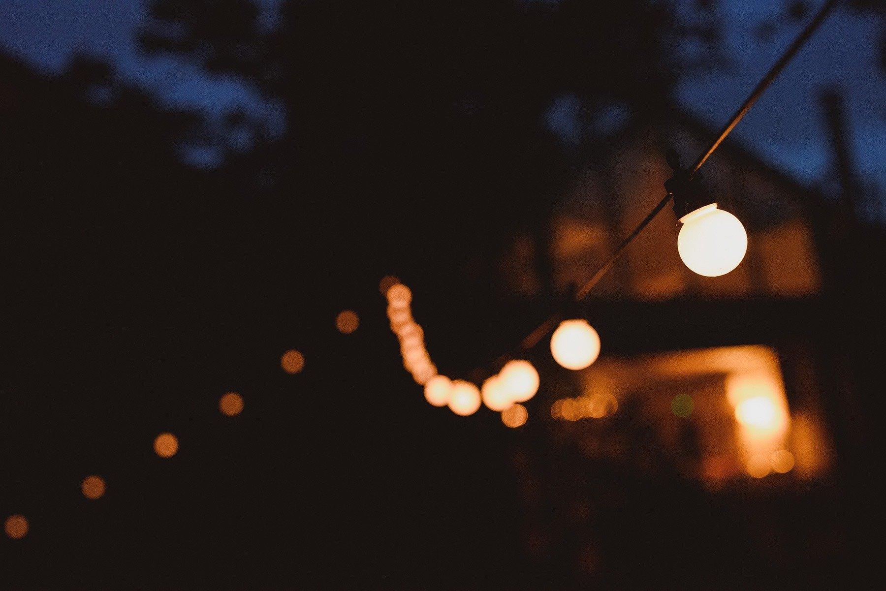 festoon lights at somerset wedding